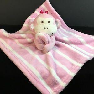 Lovey~Pink~Striped~Monkey~RN 119741